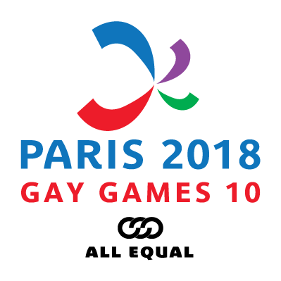 Paris 2018 Gay Games logo
